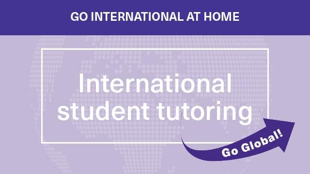 International student tutoring
