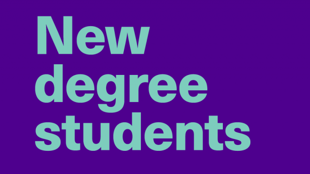 New degree students