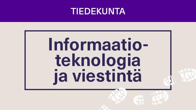 """Värillinen laatikko, jossa teksti """"Informaatioteknologia ja viestintä"""""""